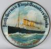 LLOYD TRAVELER CHECK KAISER WILHELM SHIP TIN SIGN
