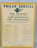 PHILCO RADIO SERVICE CHARGES TIN SIGN