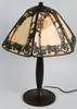 HANDEL IVY SLAG GLASS TABLE LAMP