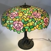 CHICAGO MOSAIC STAINED LEADED GLASS TABLE LAMP