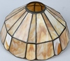 DUFFNER STAINED LEADED GLASS LAMP SHADE