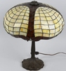 DUFFNER STAINED LEADED GLASS BALLOON STYLE LAMP