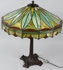 WILKINSON STAINED LEADED GLASS TABLE LAMP
