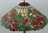 LEADED GLASS FLORAL TABLE LAMP