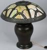MILLER LAMP CO. SLAG GLASS TABLE LAMP