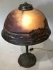 CHIPPED ICE REVERSE PAINTED COASTAL SCENE LAMP