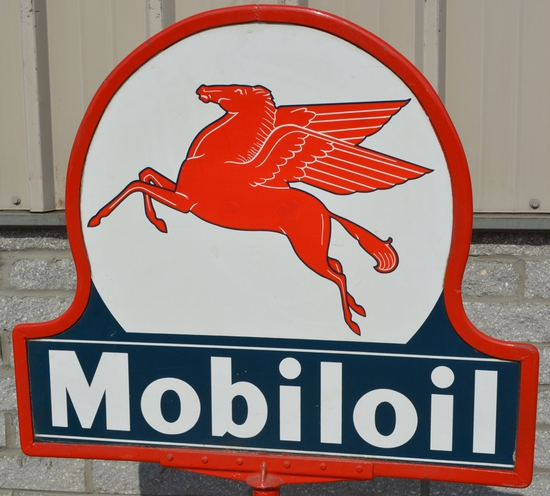 Mobiloil w/Pegasus Porcelain Sign