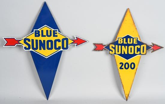 Blue Sunoco w/arrow Porcelain Sign