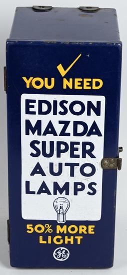 Edison Mazda Super Auto Lamps Porcelain Cabinet