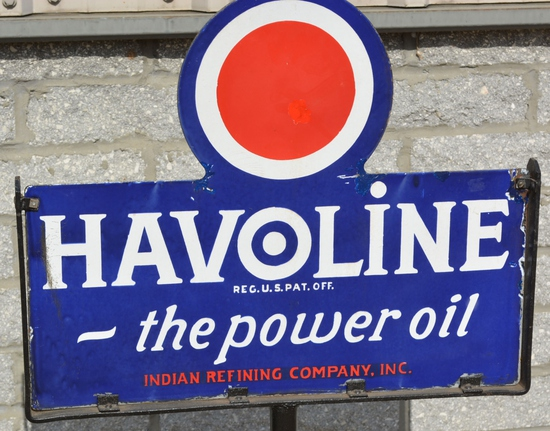 "Indian Havoline ""the Power Oil"" Porcelain Sign"