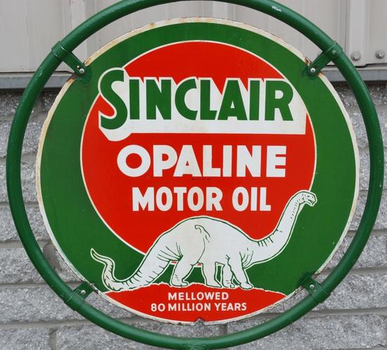 Sinclair Opaline Motor Oil w/white Dinosaur Porcel