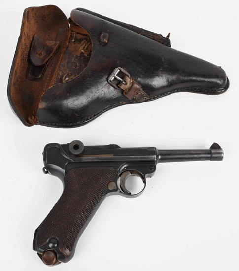 S/42 G DATE 1935 LUGER PISTOL WITH HOLSTER