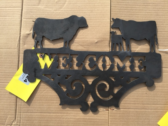 BULL/COW/CALF WELCOME SIGN
