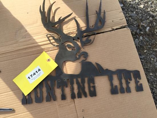 BUCK/HUNTING LIFE WALL SIGN