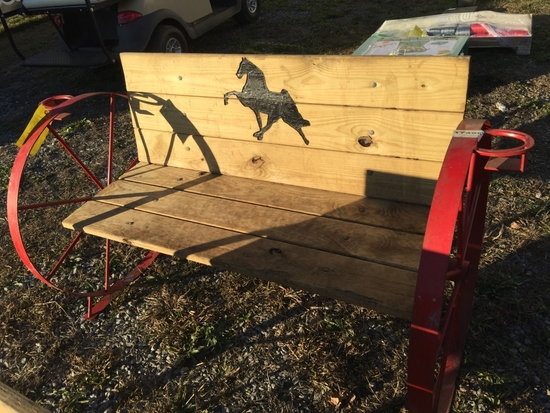 RED WHEEL HORSE BENCH