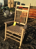 UNFINISHED WOOD ROCKING CHAIR
