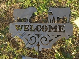 BULL COW CALF WELCOME SIGN