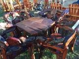 TEAK WOOD TABLE W/ 4 CHAIRS