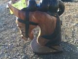 TEAK WOOD HORSE HEAD