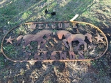 5' OVAL HORSE SIGN
