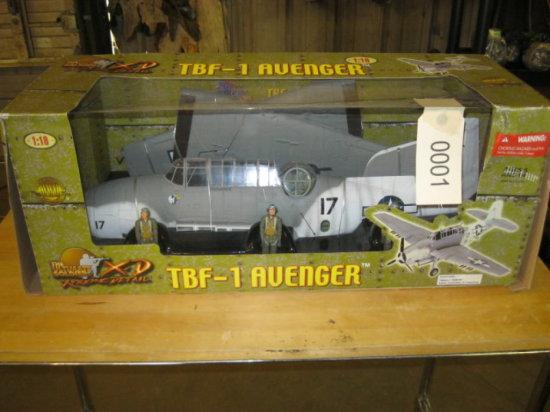 TBF-1 Avenger Airplane Model