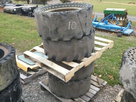 36X14-20 SOLID TIRES AND WHEELS