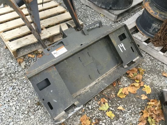 BOBCAT AUGER MOUNTING PLATE