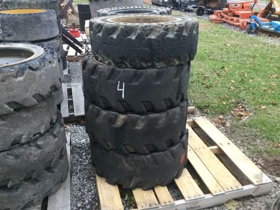 SOLID TIRES AND WHEELS