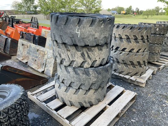 33 X 12-20 SOLID TIRES AND WHEELS