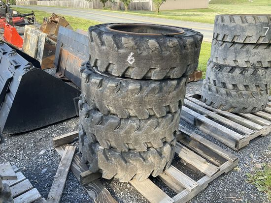 31 X 10-20 SOLID TIRES AND WHEELS