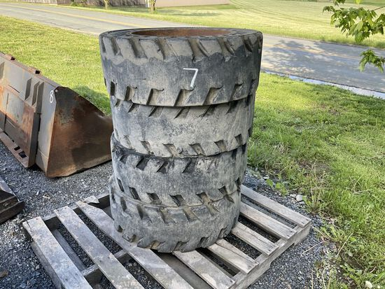 31 X 10-16 SOLID TIRES AND WHEELS