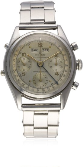 AN EXTREMELY RARE GENTLEMAN'S STAINLESS STEEL ROLEX ''JEAN-CLAUDE KILLY'' OYSTER TRIPLE CALENDAR ANT