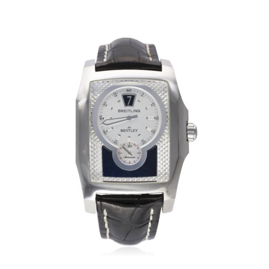 A GENTLEMANS STAINLESS STEEL BREITLING BENTLEY FLYING B WRIST WATCH CIRCA 2005 REF A28362 D Silver d