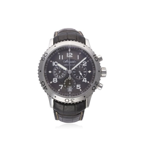 A GENTLEMANS STAINLESS STEEL BREGUET TYPE XXI FLYBACK CHRONOGRAPH WRIST WATCH CIRCA 2008 REF 3810 D