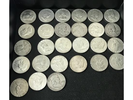 $13.50 Face Value Franklin Halves