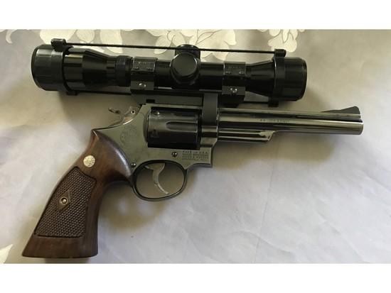 Smith and Wesson 22 Magnum Revolver with Scope