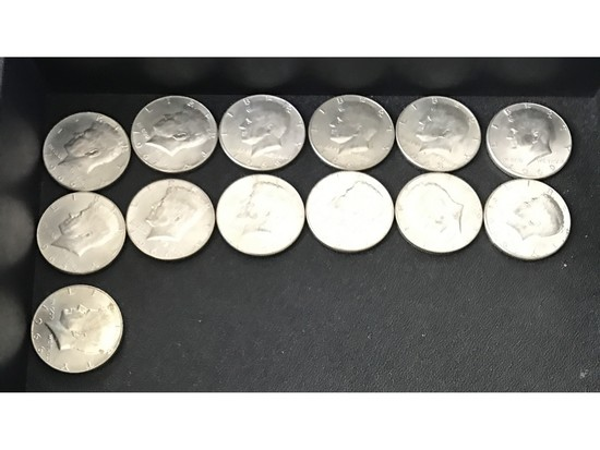 $6.50 Face Value 40% Kennedy Halves