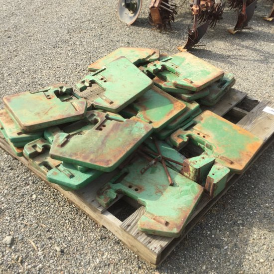 Pallet of John Deere Tractor Weights