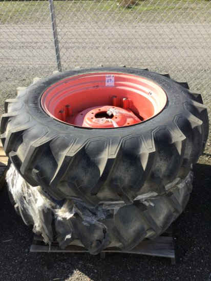Pallet Of Tractor Tires & Rims