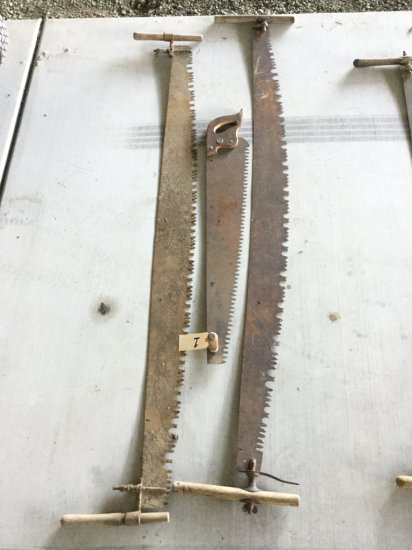 Lot of (2) Antique 6' Two Man Crosscut Saws