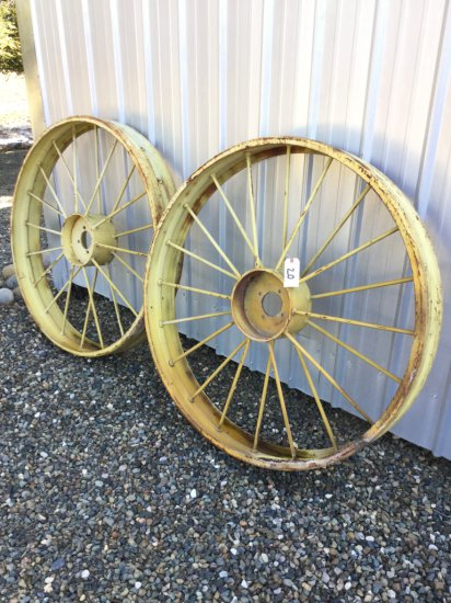 Lot of (2) 4' Wagon Wheels