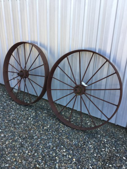 Lot of (2) 4' Implement Wheels