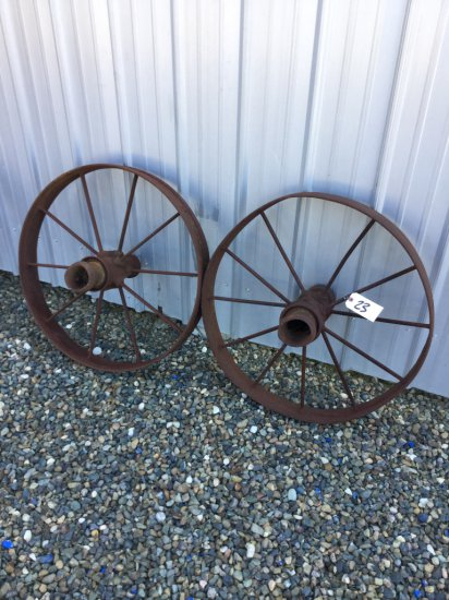"Lot of (2) 32"" Wagon Wheels"