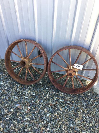 Lot of (2) John Deere Front Tractor Wheels