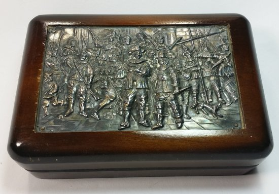 WW2- Wood Box with Sterling Plaque