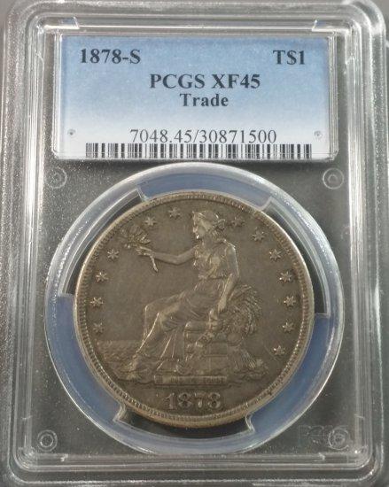1878-S Trade Silver Dollar (PCGS xf-45)