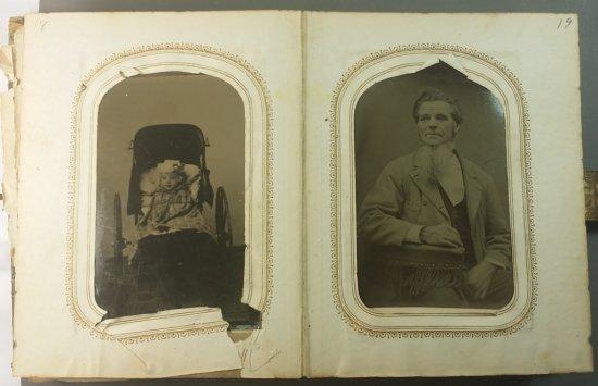 50x Civil War Era TINTYPE Photo's in Album