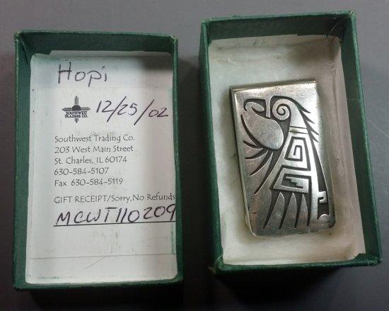 Hopi Indian Sterling Silver Money Clip