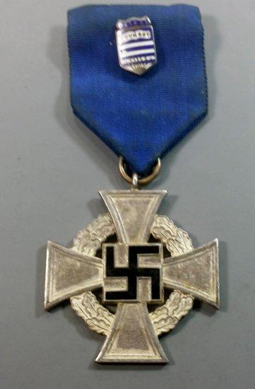 "Rare WWII German Silver ""Faithful Service"" Medal"