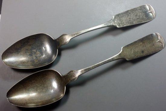 2x Civil War Silver Spoons (94g)